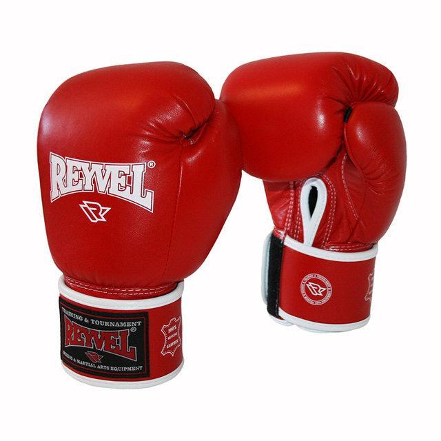 Боксерские перчатки Reyvel с широкой застежкой 10 oz кожа