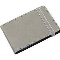 Визитница на 20 визиток Optima Vivella O51615-10 карманная на резинке серая