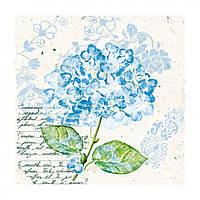 """Декупажные салфетки """"Гортензия"""" 33 х33 см 18,5 г / м2 (20 шт) Abiente голубые №13309741 / 3622"""