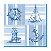 """Декупажные салфетки """"Морская прогулка"""" 33 х33 см 18,5 г / м2 (20 шт) Daisy №SDOG016001 / 2089"""