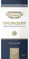 """Шоколад «Президент» горький 78% без добавления сахара от КФ """"Коммунарка"""" 100гр"""