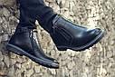 Зимние ботинки дезерты мужские черные кожаные размер 40, 41, 42, 43, 44, 45, фото 2