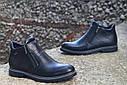 Зимние ботинки дезерты мужские черные кожаные размер 40, 41, 42, 43, 44, 45, фото 3