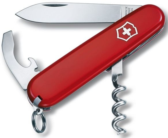 Швейцарский, армейский складной нож Victorinox Waiter 0.3303 красный
