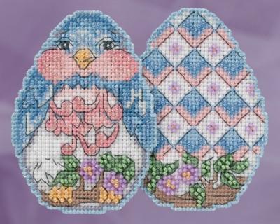 Набор для вышивки Mill Hill Bluebird Egg by Jim Shore (2018)