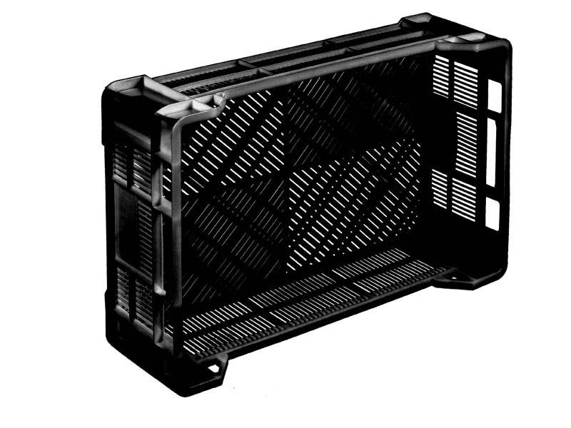 Пластиковый ящик перфорированный 600х400х170/130 мм
