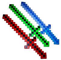 """Алмазный меч """"Minecraft"""" со звуковыми и световыми эффектами 60см"""