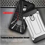 Противоударный чехол с заглушками для Xiaomi Redmi Note 5 / Стекло /, фото 2