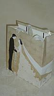 Пакет подарочный 18*21 с блеском свадебный, фото 1