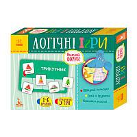 КЕНГУРУ Логічні ігри. 2+ Вивчай форми. 24 картки КН918002У (Укр)