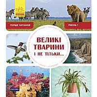 """Книга B5 """"Первое чтение Non Fiction: Большие животные и не только"""" Уровень 1 (10) №0308/Ранок/"""