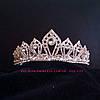 Свадебная диадема под серебро, корона, тиара, высота 4 см.