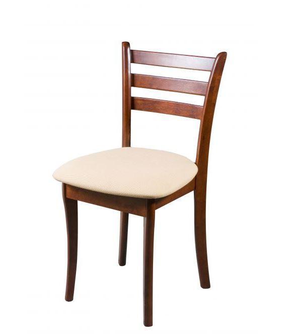 Деревянный стул Бари, цвет каштан + рогожка