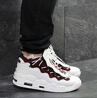 Мужские кроссовки Nike Air Uptempo 96, демисезонные, пресс кожа, белые, Найк Аир, 2018