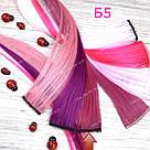 Цветные пряди трессы малина, фото 2