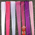 Пряди искусственных волос малиновые, фото 6