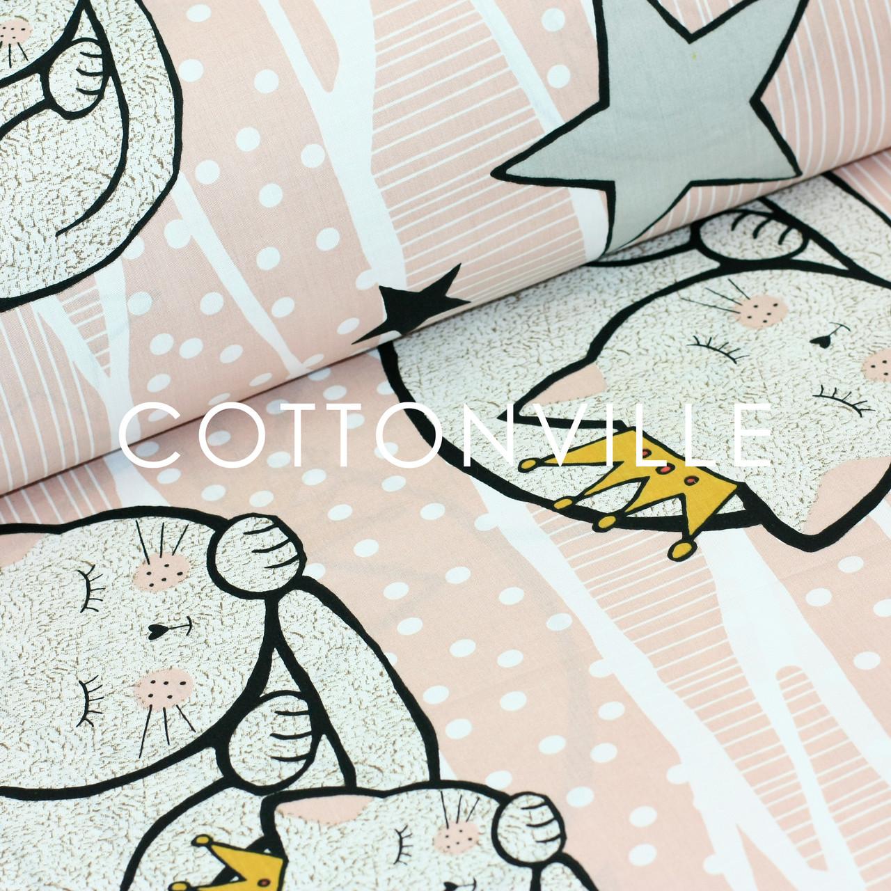 ✁ Отрезы хлопковой ткани Кошечки