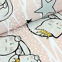 Хлопковая ткань Кошечки