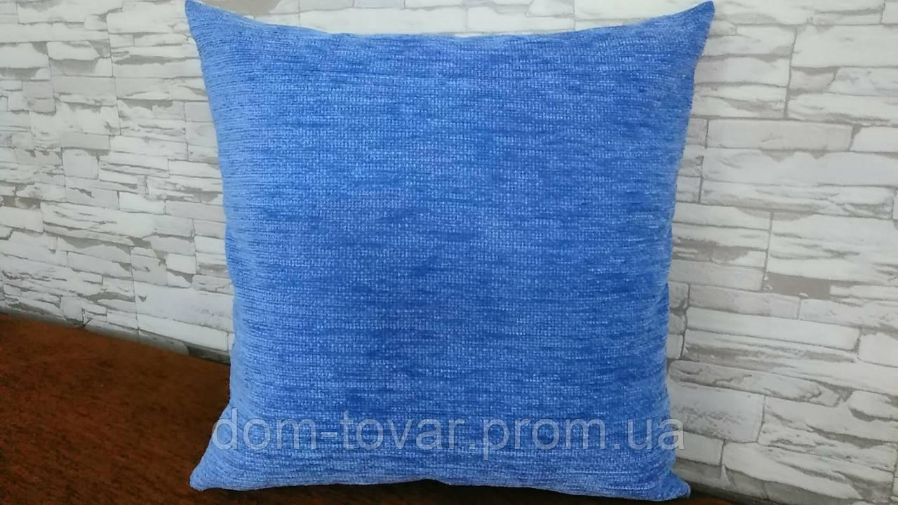 Подушка декоративная 40х40 ярко голубая