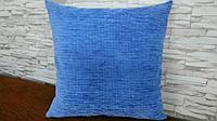 Подушка декоративная 40х40 ярко голубая, фото 1