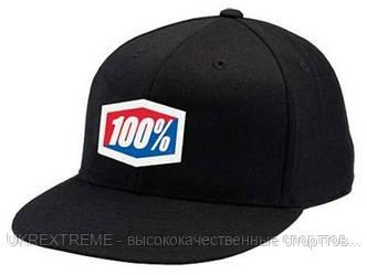 Кепка 100% ICON 210 Fitted Hat черная (ОРИГИНАЛ)