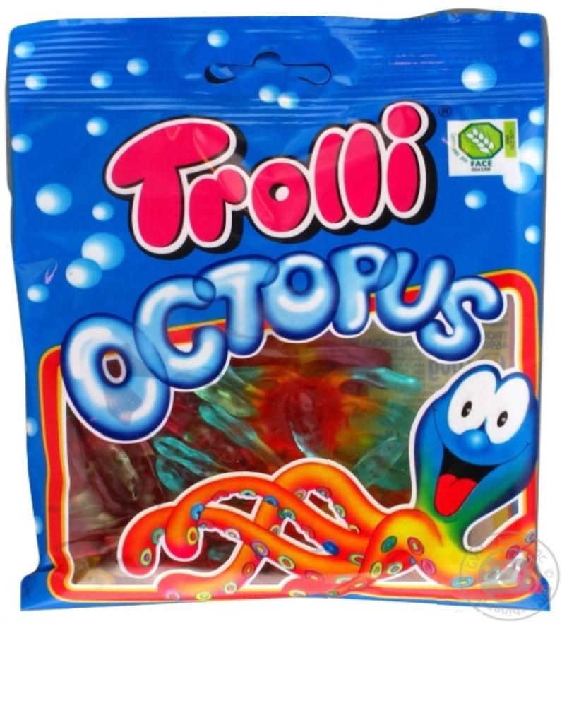 """""""Trolli"""" Жувальні цукерки """"Восьминіг"""" 100г"""