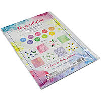"""Набор картона дизайнерского А4 9 листов """"Цветочная коллекция"""" (10) (200) №18468/Подолье/"""