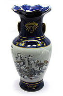Низкая ваза для цветов из керамики