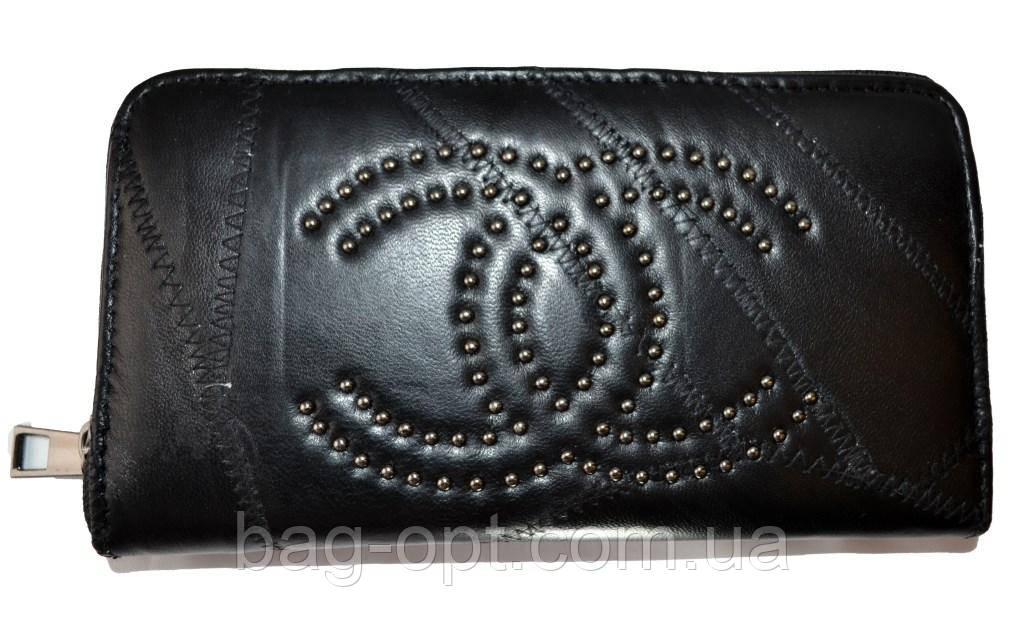 Женский кошелек из натуральной кожи Chanel (11x20x3)