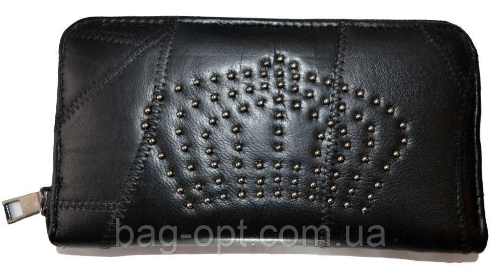 Женский кошелек из натуральной кожи (11x20x3)