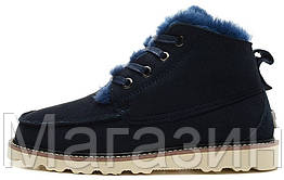 Мужские ботинки UGG David Beckham Boots Dark Blue оригинальные Угги Австралия Девид Бекхем синие