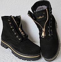 Balmain лезвие зима! Женские в стиле Бальман черные сапоги ботинки натуральная замша