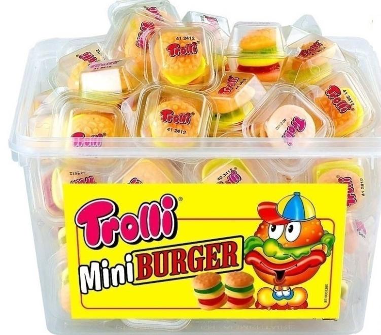 """""""Trolli"""" Жувальні цукерки """"Міні Бургер"""" 600 г Банка (6шт)"""