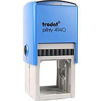 Оснастка для круглой печати пластиковая d40мм Trodat 4940/4924 корпус синий с пластиковым футляром-колпачком