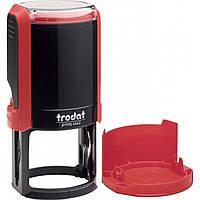 Оснастка для круглой печати пластиковая d42мм Trodat 4642 корпус красный с пластиковым футляром-колпачком