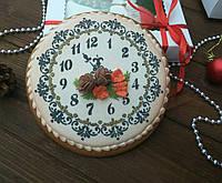 """Пряник имбирно-медовый К Новому Году """"Часы большие"""" (пряник новогодний на подарок)"""