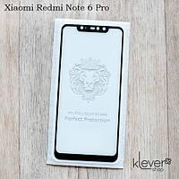 Защитное стекло Full Glue для Xiaomi Redmi Note 6 Pro (black) (клеится всей поверхностью (5D))