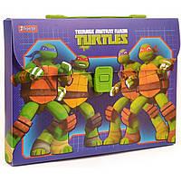 """Папка-портфель """"1 Вересня"""" """"Ninja Turtles"""" А4 пластиковая на молнии (12) №491447"""