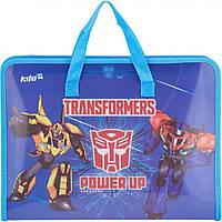 "Папка-портфель ""Kite"" №TF17-202 А4 пласт. Transformers на блиск.(1)(60)"