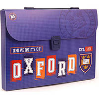 """Папка-портфель """"Yes"""" """"Oxford"""" А4 пластиковая на застежке, с ручкой (12) №491445"""