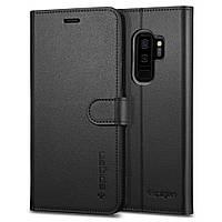 Книжка-Чехол Spigen для Samsung S9 Plus Wallet S, Black, фото 1