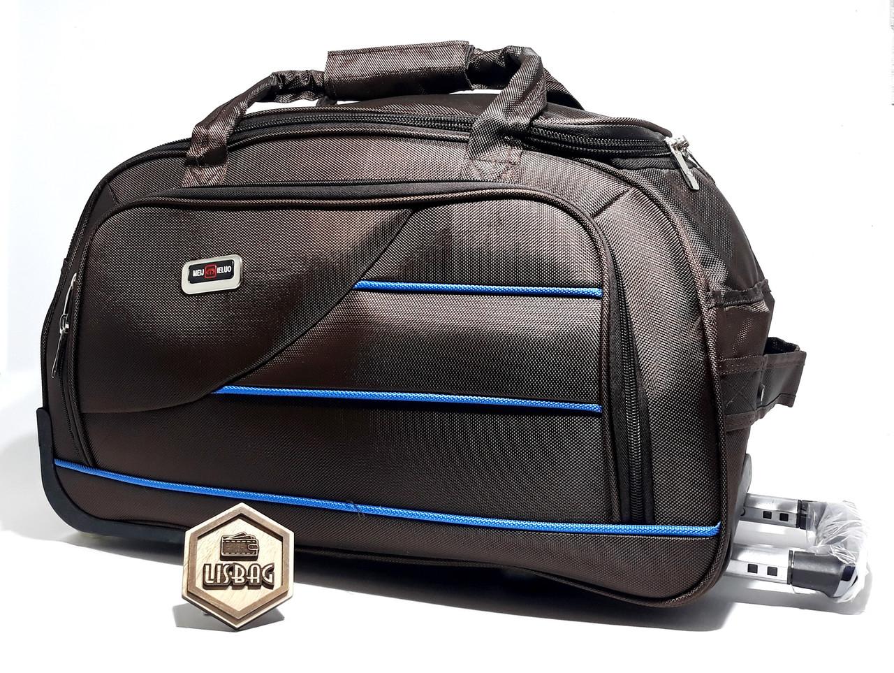 d67d6b81ff50 Большая сумка на колесах XL (77 л) Темно-коричневая (65*33*37 ...
