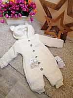 Теплый комбинезон детский плюшевый 6 -18 мес от Baby doll ОПТ и Розница Турция
