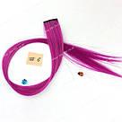 Волосы на заколках  мелкий канекалон фуксия, фото 2
