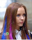 Волосы на заколках  мелкий канекалон фуксия, фото 5