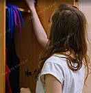 Волосы на заколках  мелкий канекалон фуксия, фото 6