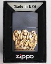 Зажигалка Zippo 29409 Three Monkeys, фото 2