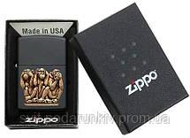 Зажигалка Zippo 29409 Three Monkeys, фото 3
