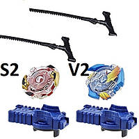HASBRO Набор Спрайзен S2 и вольтраек V2 c запускателями без арены из набора Beyblade Epic Rivals США, фото 1
