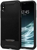 Чехол Spigen для iPhone XS Max Hybrid NX, Black (065CS24944), фото 1